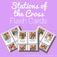 Stations of the Cross Color and Black/White Flash Cards for Catholic Children