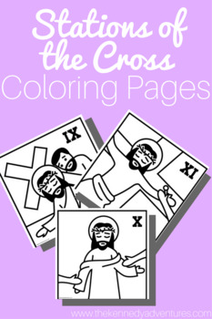 Stations of the Cross Coloring Pages + BONUS