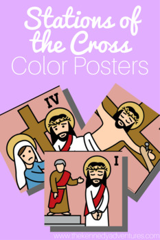 Stations of the Cross Coloring Pages and Color Posters
