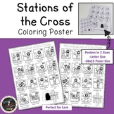 Stations of the Cross - Coloring Poster