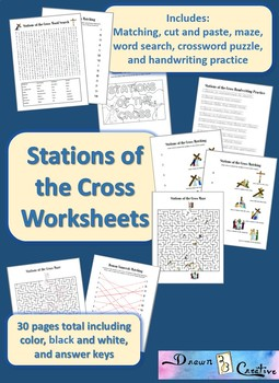 Stations of the Cross Worksheets