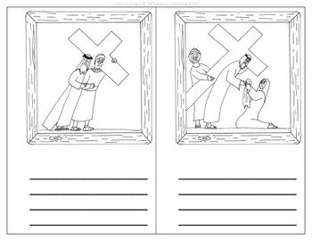 Stations of the Cross Write & Color Booklets