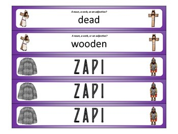 Stations of the Cross ZAP! Noun, Verb, or Adjective?