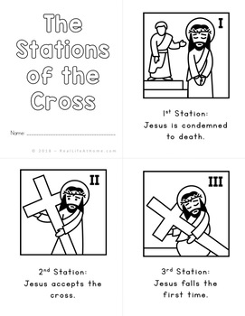 Stations of the Cross for Kids: Small Coloring Booklet