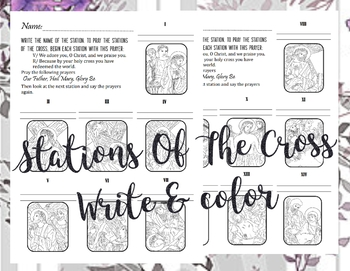 Stations of the Cross [write, color, & pray]