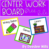 Stations or Centers Work Board Signs FREEBIE