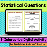 Statisitcal Questions Digital Interactive Math Notebook