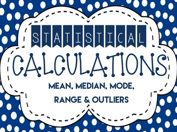 Statistical Calculations {Lesson Bundle}