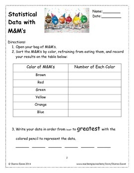 Statistical Data with M&M's