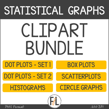 Statistical Graph Clipart for Secondary Grades - BUNDLE
