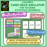 Statistical Inference: The Card Deck Emulator for LibreOff