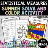 Statistical Measures No Prep Solve and Color Activity - Su