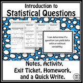 Statistical Questions Notes and Activity