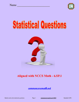 Statistical Questions Activity Manual - 6.SP.1