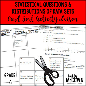 Statistical Questions & Distributions of Data Sets Card Sort Activity Lesson