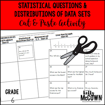Statistical Questions & Distributions of Data Sets Cut & Paste Activity