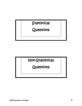 Statistical Questions Interactive Lesson {6.SP.1}