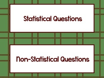 Statistical Questions Practice