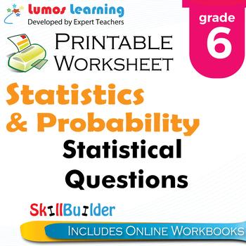 Statistical Questions Printable Worksheet, Grade 6