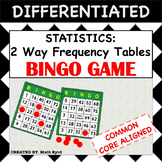 Statistics:2 Way Frequency Tables BINGO GAME & Complete lesson!