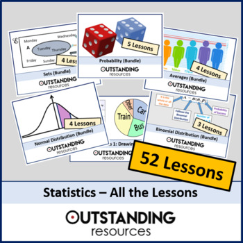 Statistics: ALL Lessons (47 Lessons) - All your Data Handling needs + Resources