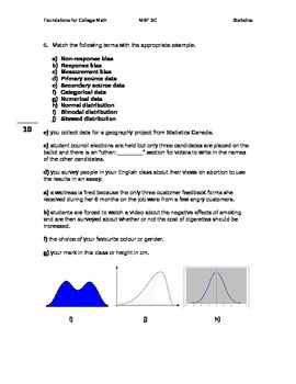 Statistics Answer Key