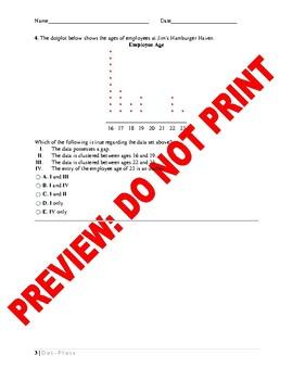 Statistics Assessment: Dotplots