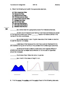 Statistics Assignment/Test