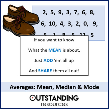 Averages 1 - Finding the Mean, Median and Mode (+ Worksheet + Matching Activity)