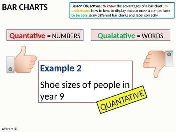 Statistics: Bar Charts / Comparative Bar Charts (+ differentiated worksheet)