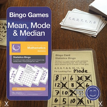 Statistics Bingo for Mean, Median & Mode