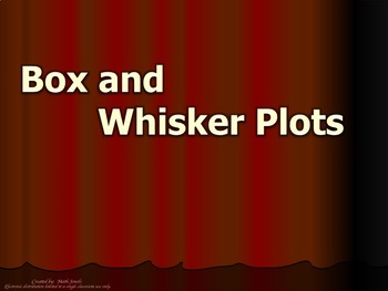 Statistics - Box and Whisker Plots Instructional PowerPoint