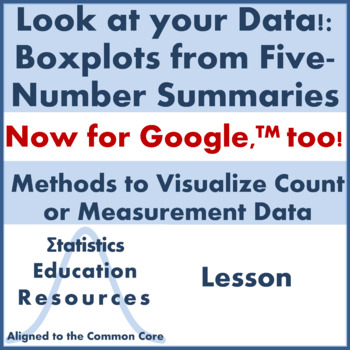 Statistics: Boxplots from Five-Number Summaries (Common Core Aligned Lesson)
