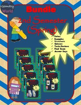 Statistics Bundle: 2nd Semester Curriculum