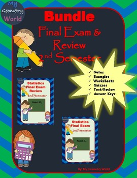 Statistics Bundle: 2nd Semester Final Exam & Review