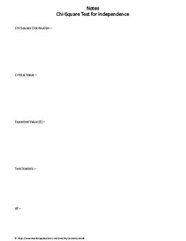 Statistics Bundle: Chi-Square Test