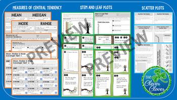Statistics Bundle - Guided Notes, Worksheets, Scavenger Hunts and more!