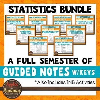 Statistics Interactive Notebook Activities & Scaffolded Notes