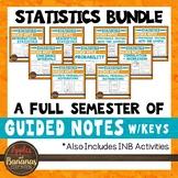 Statistics Interactive Notebook Activities & Scaffolded Notes Bundle