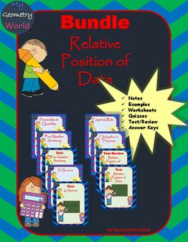 Statistics Bundle: Relative Position of Data