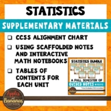 Statistics Bundle Supplementary Materials and CCSS Alignme