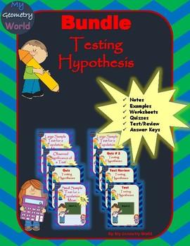 Statistics Bundle: Testing Hypotheses