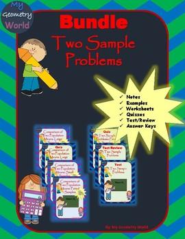 Statistics Bundle: Two Sample Problems