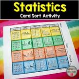 Statistics Card Sort Activity (Dot Plot, Frequency Table, Histogram, & Box Plot)