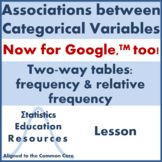 Categorical Data & Two-Way Tables: Frequency & Relative Fr