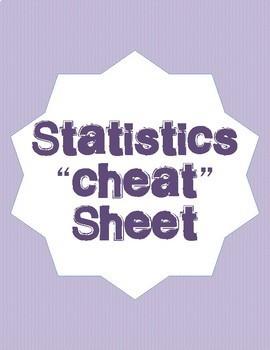 "Statistics ""Cheat"" Sheet"