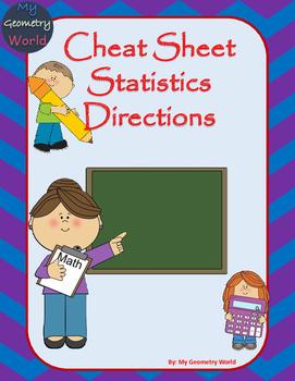 Statistics Cheat Sheet: Calculator Directions