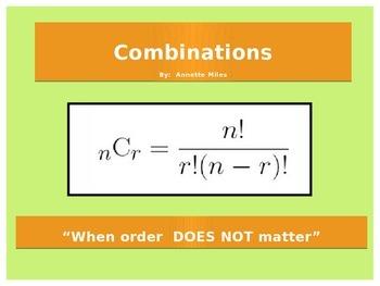 Statistics:  Combinations