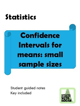 Statistics-Confidence Interval for Means-Small Sample Sizes