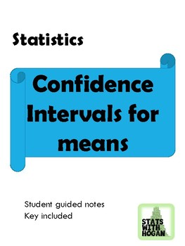 Statistics- Confidence Intervals for Means